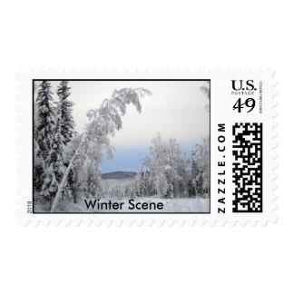 Escena del invierno sellos