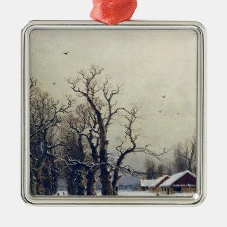 Escena del invierno, siglo XIX Ornato