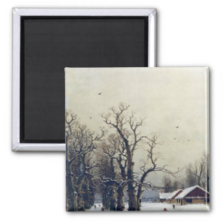 Escena del invierno, siglo XIX Iman De Frigorífico