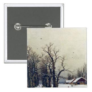 Escena del invierno, siglo XIX Pin