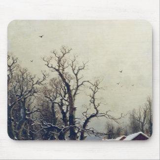Escena del invierno, siglo XIX Tapetes De Raton