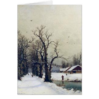 Escena del invierno, siglo XIX Felicitaciones