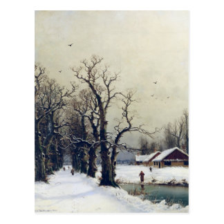Escena del invierno, siglo XIX Postales