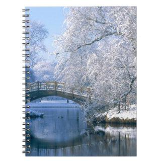 Escena del invierno spiral notebooks