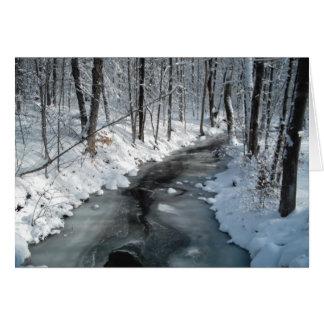 Escena del invierno felicitaciones