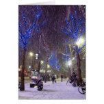 Escena del invierno tarjeta de felicitación