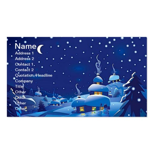 Escena del invierno tarjetas de visita