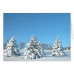 Escena del invierno tarjetón