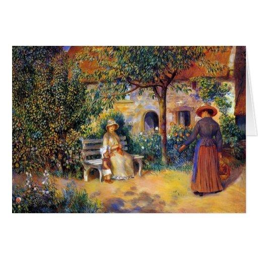 Escena del jardín en Bretaña Tarjeta Pequeña