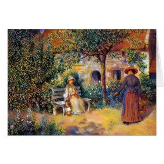 Escena del jardín en Bretaña Tarjetas