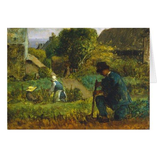 Escena del jardín - mijo de Jean-François Tarjeta De Felicitación