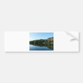 escena del lago pegatina para auto