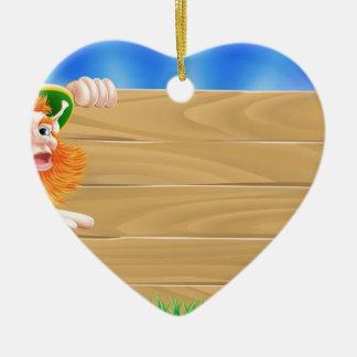 Escena del leprechaun del día de Patricks del sant Ornamentos Para Reyes Magos
