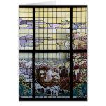 Escena del mar de Nouveau del arte del vitral Tarjetas