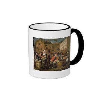 Escena del mercado taza de café