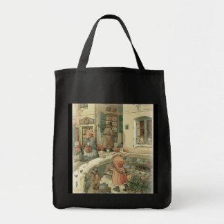 Escena del navidad - bolso de ultramarinos bolsa tela para la compra