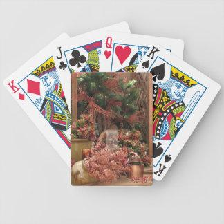 escena del navidad barajas de cartas
