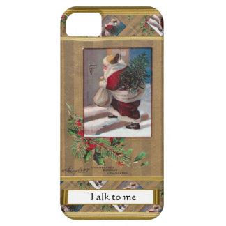 Escena del navidad de la imagen del vintage, funda para iPhone SE/5/5s