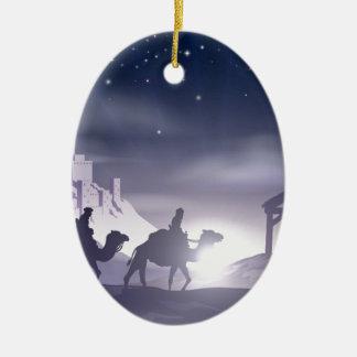 Escena del navidad de la natividad ornato