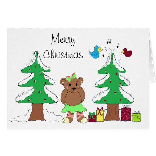 Escena del navidad tarjeta de felicitación