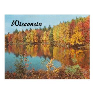 Escena del otoño del vintage tarjeta postal
