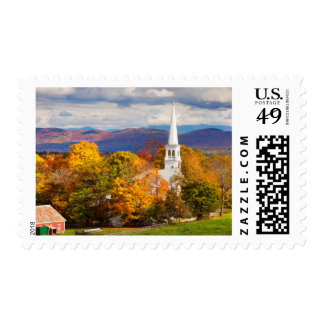 Escena del otoño en Peacham, Vermont, los E.E.U.U. Estampilla