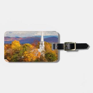 Escena del otoño en Peacham, Vermont, los E.E.U.U. Etiquetas Para Maletas
