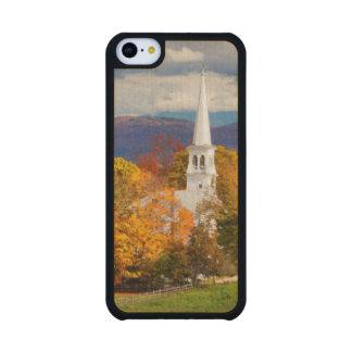 Escena del otoño en Peacham, Vermont, los E.E.U.U. Funda De iPhone 5C Slim Arce