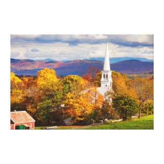 Escena del otoño en Peacham, Vermont, los E.E.U.U. Lona Estirada Galerias