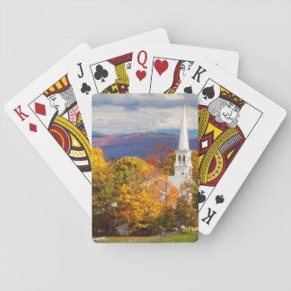 Escena del otoño en Peacham, Vermont, los E.E.U.U. Naipes