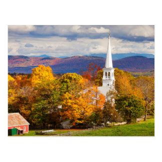 Escena del otoño en Peacham, Vermont, los E.E.U.U. Postal