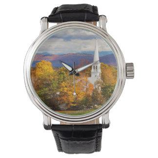 Escena del otoño en Peacham, Vermont, los E.E.U.U. Reloj De Mano
