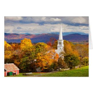 Escena del otoño en Peacham, Vermont, los E.E.U.U. Tarjeta De Felicitación