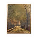 Escena del otoño, Leeds, 1874 (aceite a bordo) Tarjetas Postales