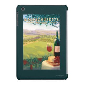 Escena del país de MassachusettsWine Fundas De iPad Mini
