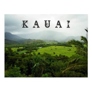 Escena del paisaje de Kauai, Hawaii Tarjetas Postales