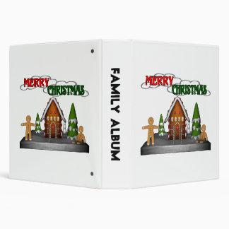 Escena del pan de jengibre de las Felices Navidad