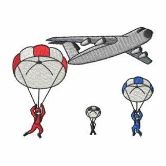 Escena del paracaídas polo bordado