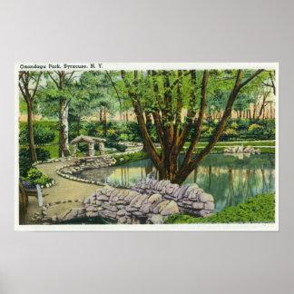 Escena del parque del Onondaga Posters