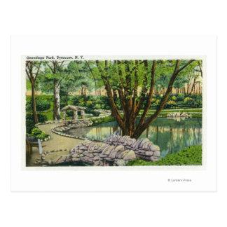 Escena del parque del Onondaga Tarjetas Postales