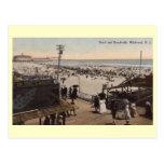 Escena del paseo marítimo, Wildwood, vintage de Ne