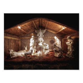 Escena del pesebre de la natividad de Jesús del Fotografía