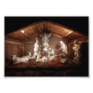 Escena del pesebre de la natividad de Jesús del Fotografías