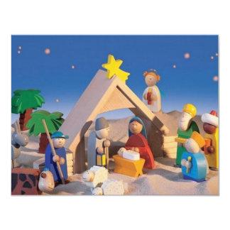"""Escena del pesebre del navidad invitación 4.25"""" x 5.5"""""""