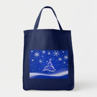 Escena del pleno invierno, azul bolsas de mano