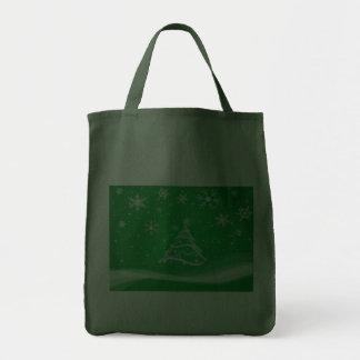 Escena del pleno invierno, verde bolsa de mano