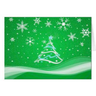 Escena del pleno invierno - verde tarjeta de felicitación