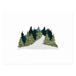 Escena del rastro del invierno tarjeta postal