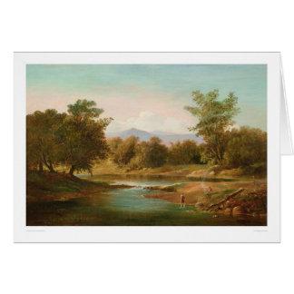 Escena del río de Carmel (0236A) Tarjeta De Felicitación