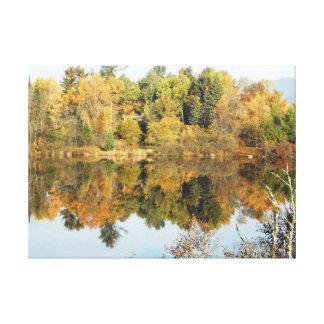 Escena del río del Adirondacks del río del cacho Impresión En Lienzo Estirada